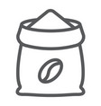 coffee sack line icon coffee and cafe coffee vector image vector image
