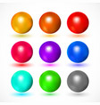 colorful and bright spheres vector image vector image