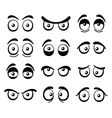 Comic Cartoon Eyes Set vector image vector image