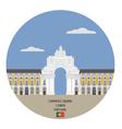 commerce square lisbon portugal vector image vector image