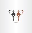 cow icon logo symbol vector image vector image
