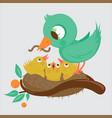 cute birds in nest vector image vector image