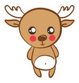 cute little deer on white background vector image vector image