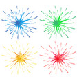 different color splashes in four colors vector image