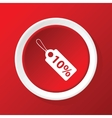 Discount icon on red vector image vector image