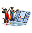 distance diploma certificate for student vector image