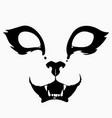 drawing a stylized scary animal muzzle vector image vector image