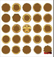 empty gold and brown labels vector image vector image