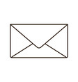 envelope closed isolated icon vector image vector image