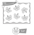 find 2 identical butterflys black vector image vector image