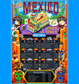 food truck menu street food mexican festival vector image vector image