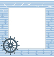 frame for text or photo with the steering wheel vector image