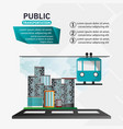 funicular cable car public transport urban vector image vector image