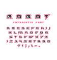 futuristic font with contour vector image