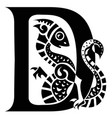 gargoyle capital letter d vector image vector image