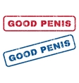 Good Penis Rubber Stamps vector image vector image
