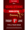 Grand Opening invitation card Grand Opening Event vector image vector image