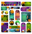 halloween holiday trick treat greeting cards vector image vector image
