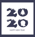 happy new year 2020 text design pattern vector image vector image