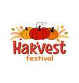 harvest festival hand drawn lettering vector image vector image