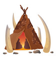 hut ancient people flat vector image vector image