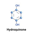 hydroquinone benzenediol or quinol vector image vector image