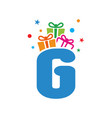 initial gift g vector image vector image