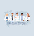 international doctors day clinical professionals vector image vector image