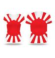 Japanese War flag shirt design vector image vector image
