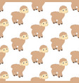 lamb seamless pattern vector image