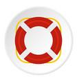 lifebuoy icon circle vector image