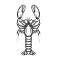 lobster icon isolated on white background vector image vector image
