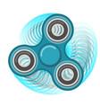 motion hand fidget spinner color blue toy vector image