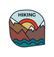 mountain hiking logo emblem template adventure vector image vector image