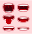 mouths set vector image