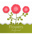 paper flowers background with exotic flowers of vector image vector image