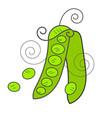 pea pod icon cartoon pea pod icon for web vector image