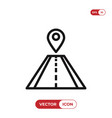 pin on road icon vector image vector image