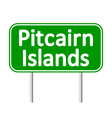Pitcairn Islands road sign vector image vector image