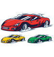 race car mascot vector image vector image