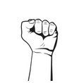 raised fist rebel concept protest symbol vector image vector image