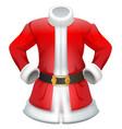 red fur coat traditional santa claus clothes vector image vector image