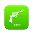 revolver icon green vector image