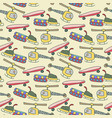 seamless pattern vehicle seamless pattern navy vector image vector image