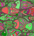 seamless pattern with a lot of Fishes vector image vector image