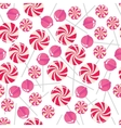 Seamless pattern with pink lollipops vector image vector image
