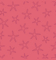 seamless pattern with starfishes vector image