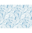 seamless wave background drawn lines vector image