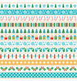 set of Christmas tape strips vector image vector image