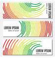 set of colorful abstract header banners vector image